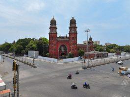 Chennai Road in lockdown