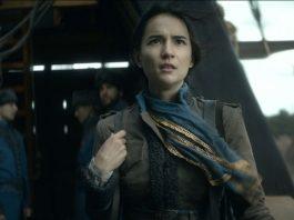 Jessie Mei Li as Alina Starkov. Shadow and Bone hits Netflix April 23.